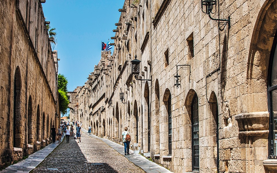 street of the Knights rhodes