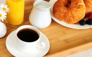 In-room breakfast ordering