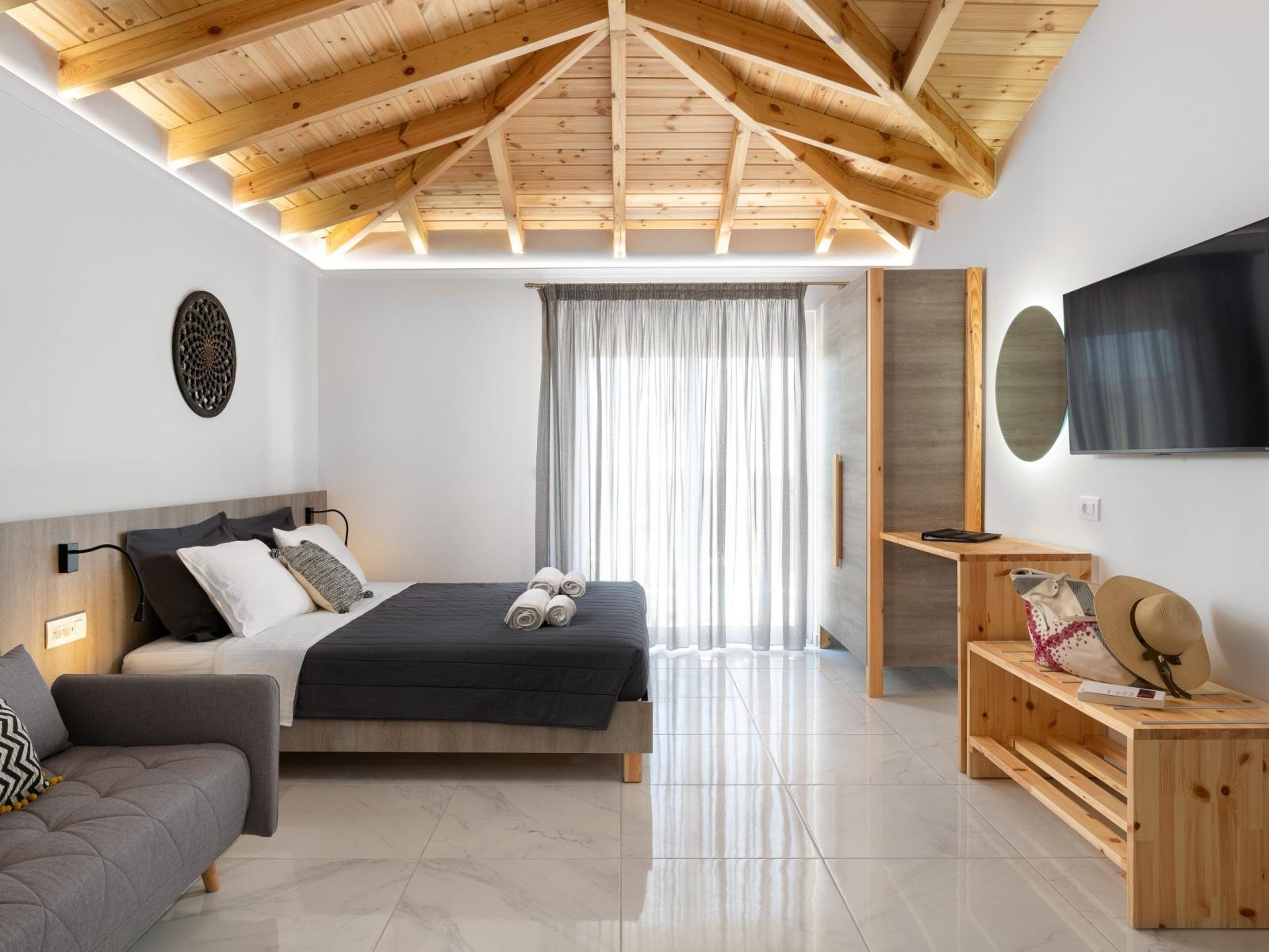 big smart tv suite boutique accommodation rhodes greece